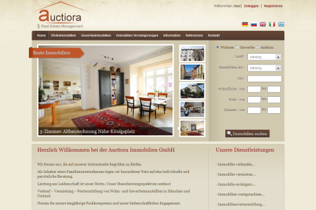 Auctiora.com Webdesign