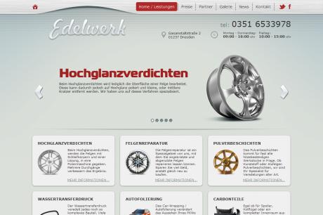 Edelwerk Dresden - Webdesign und Umsetzung der Webseite