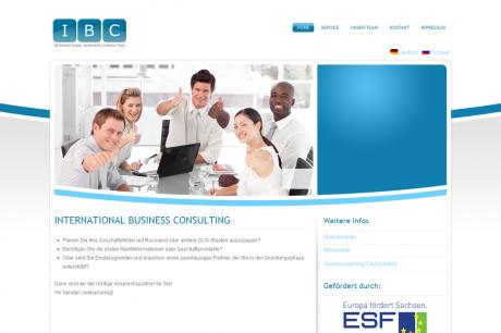 IBC Unternehmensberatung Webseite