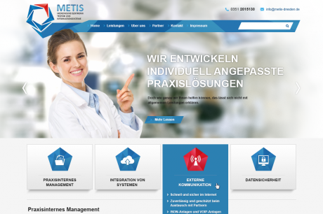 Metis Webseite Design